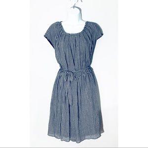 Lauren Conrad Checkered Pleat neck dress NWT
